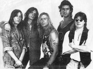 Old photocopy of a band pblicity image