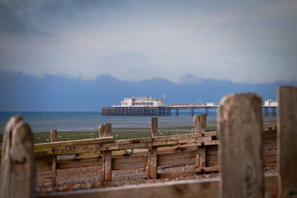 Worthing Pier from Lancing Beach