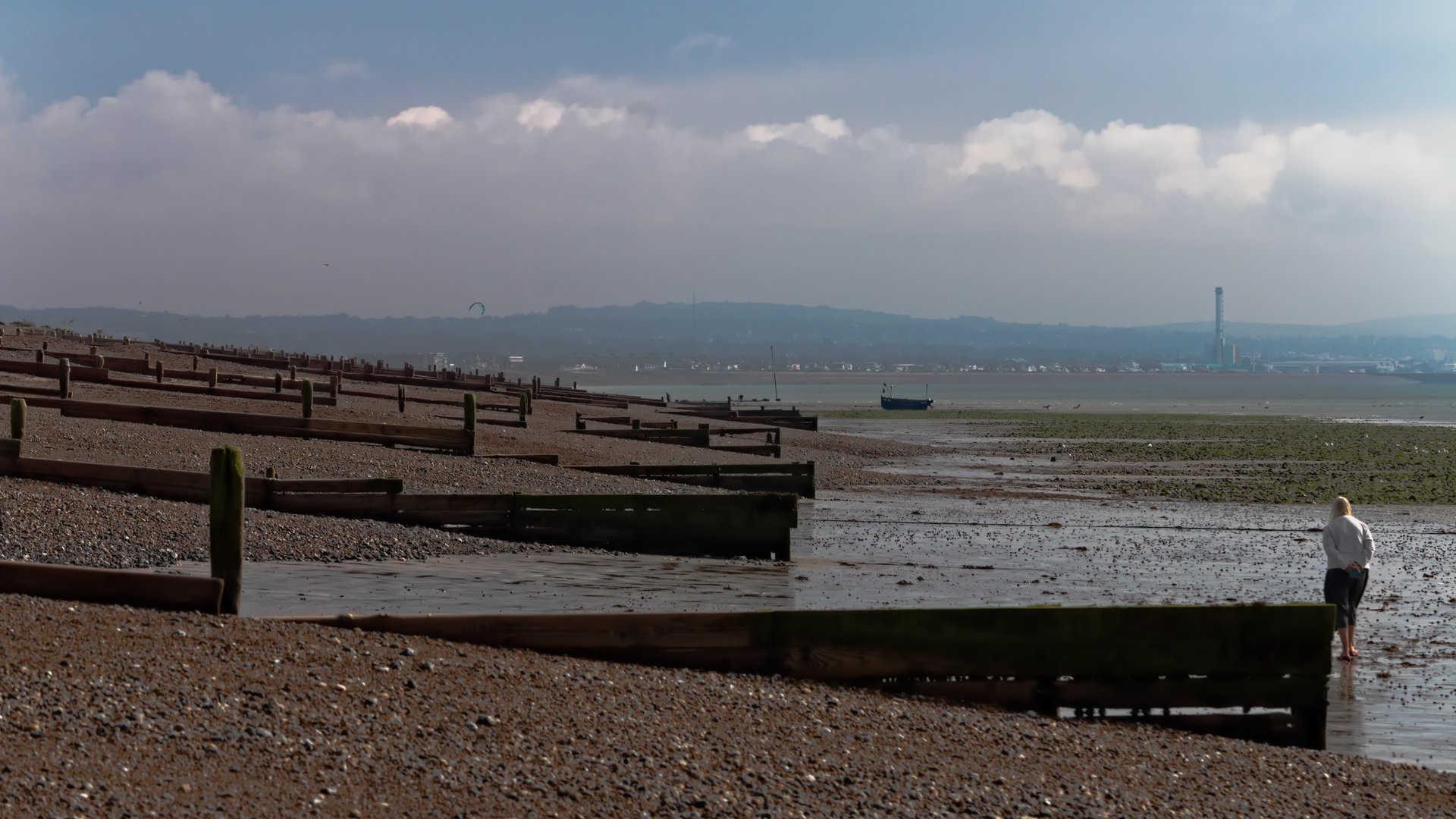 Shoreham bay from Worthing